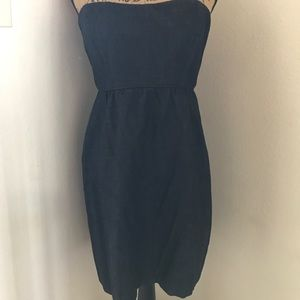 Blue Jean Strapless Gap Dress